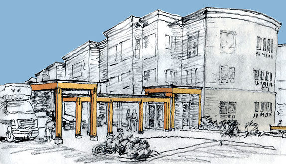 Ida Culver House sketch