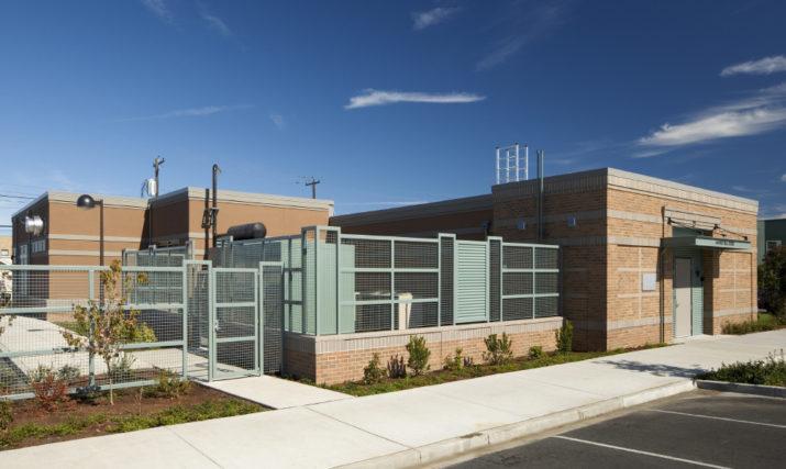 Qwest Equipment Building exterior front view