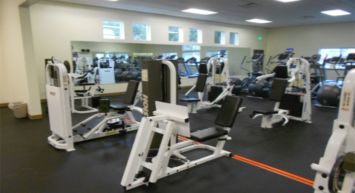Exercise equipment in room