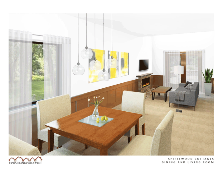 Rendering of interior