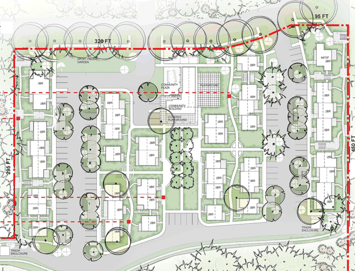 Master planning drawing for residential neighboorhood