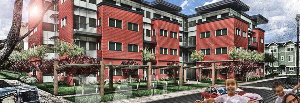 San Juan Apartments drawing of building exterior