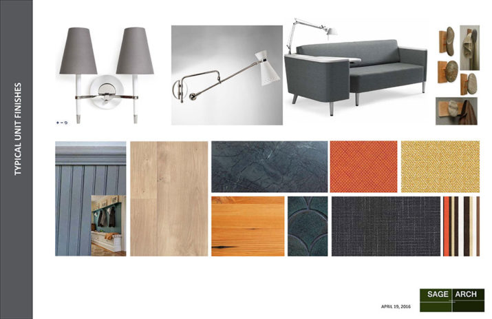 Examples of furnishings and finishes