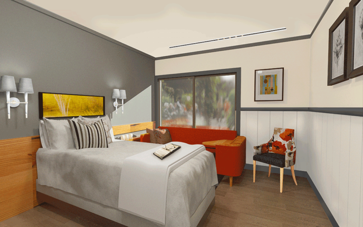 Rendering of room for Columbia Lutheran Home Private Suite