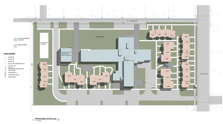Residential master planning rendering