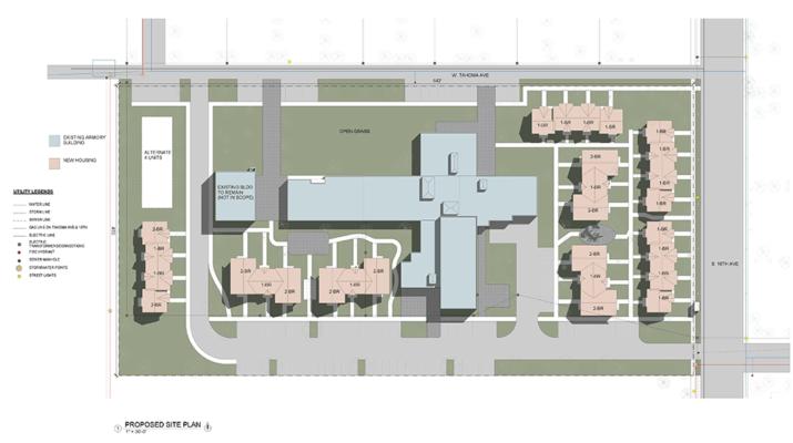 Residential master planning rendering