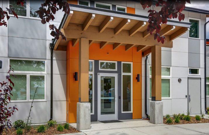 Arcadia House entryway exterior